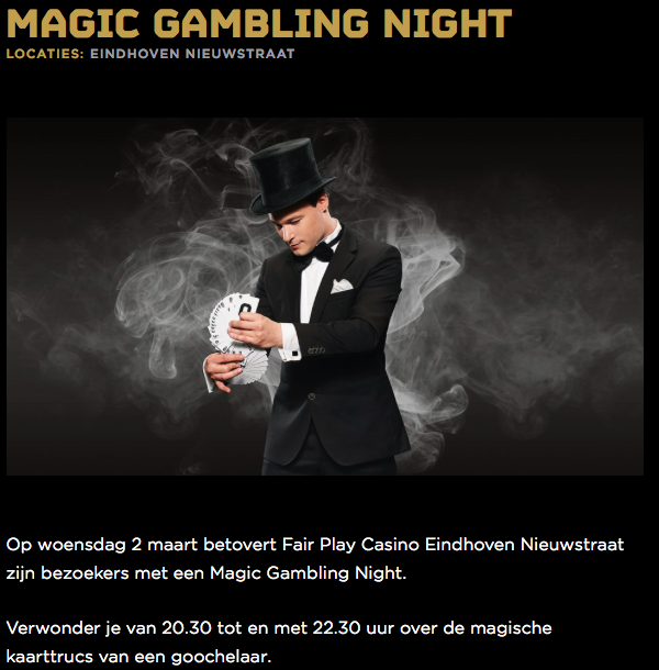vacature fair play casino