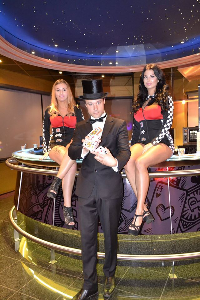 goochelaar aan de bar