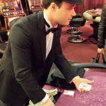 goochelaar aan tafel