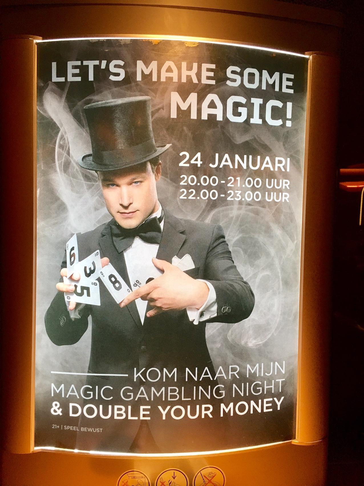 Optreden 24 januari goochelaar casino