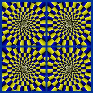 draaiende cirkel illusie