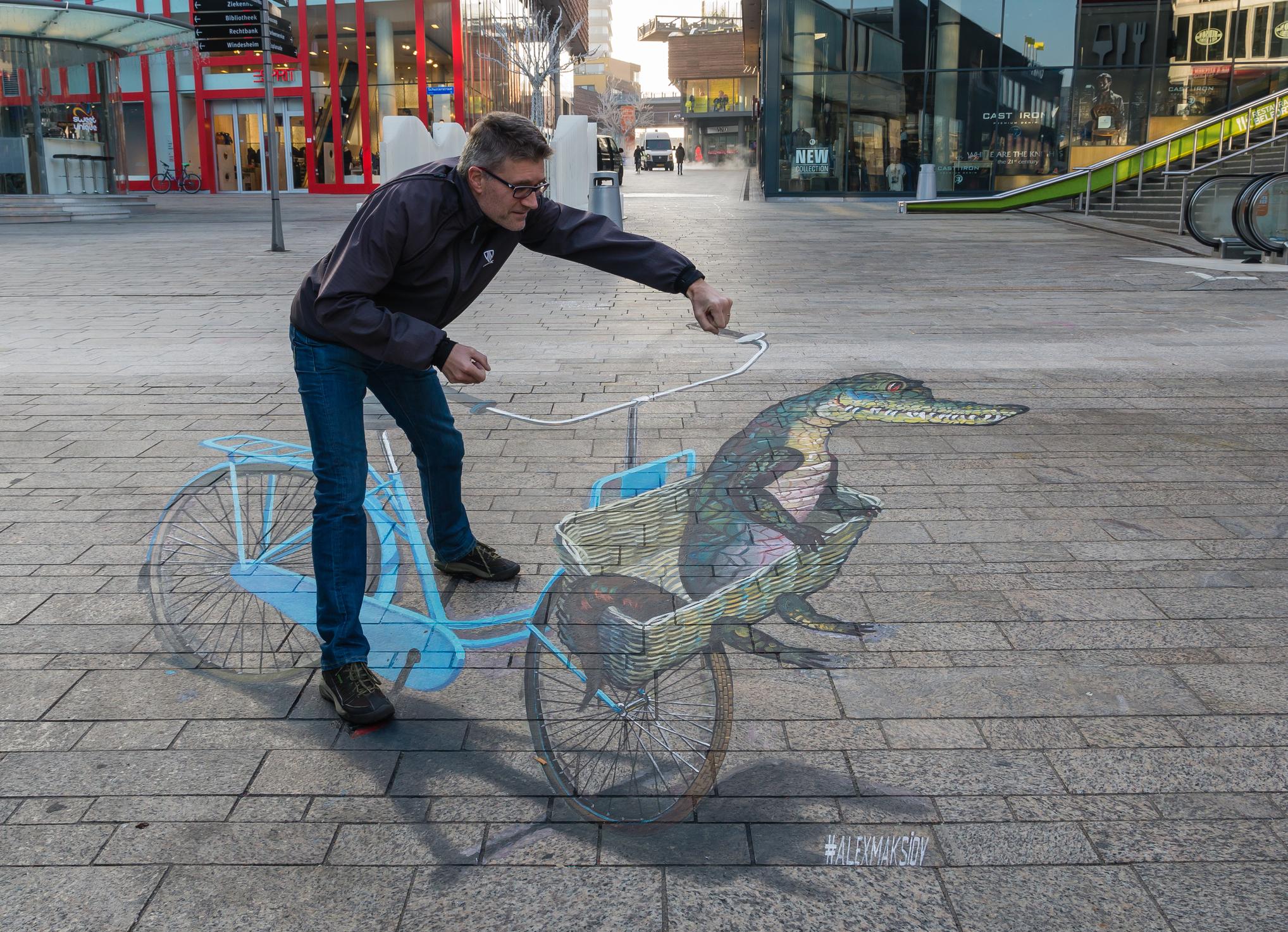 fiets illusie