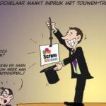Cartoon van goochelaar Jordi