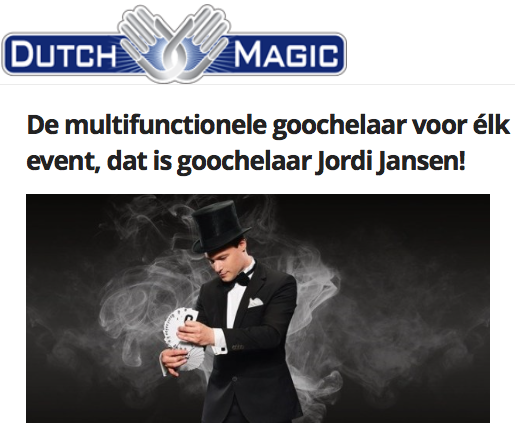 goochelaar Jordi bij Dutch Magic