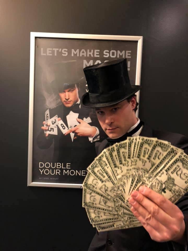 goochelaar Jordi geld
