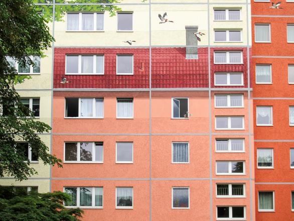illusie van een huis