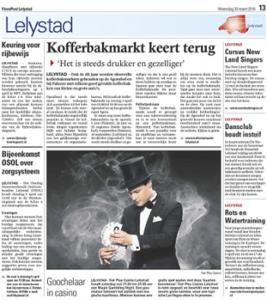 goochelaar Jordi in de krant