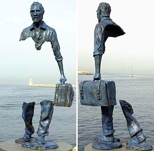 standbeeld illusie
