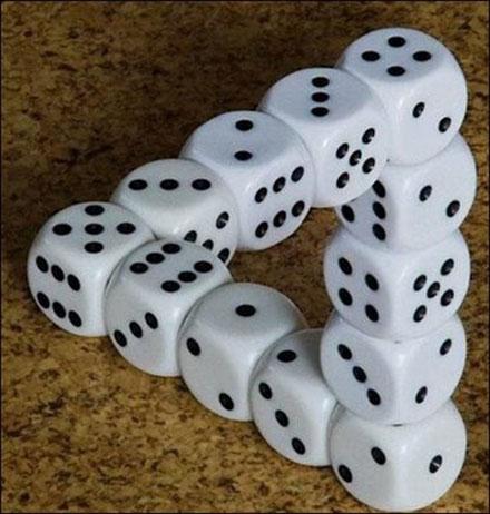dobbelsteen illusie