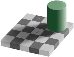 grijs illusie